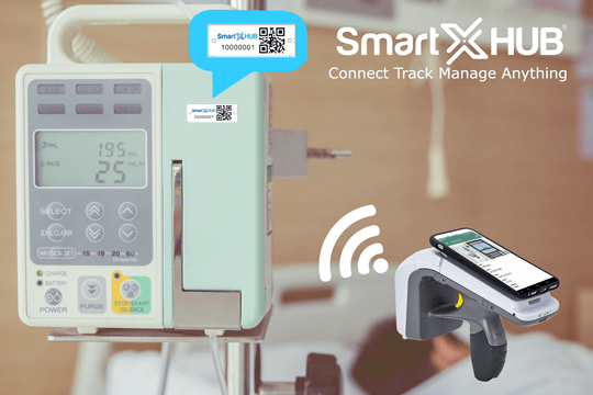 Locate, identify and monitor critical mobile hospital equipment